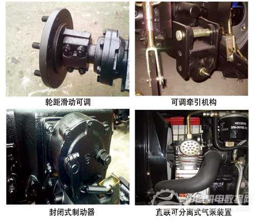 单缸四驱拖拉机是时风集团自主开发的小拖延伸