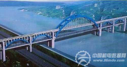 效果图 金沙江/金沙江公路、铁路两用大桥效果图