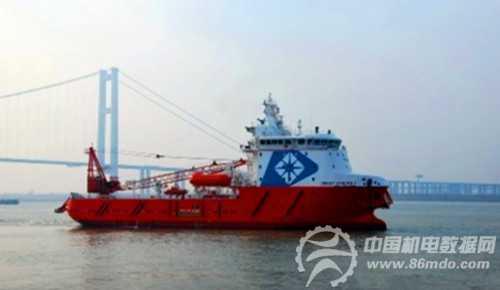 江苏省镇江船厂交付第3艘78米海洋守护支持船